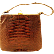 Lavish Frame Bag with Lizard Skin