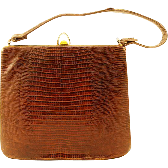 Lavish Frame Bag with Lizard Skin