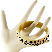 "Fun and Funky Retro Lucite ""Dalmatian"" Bangle"