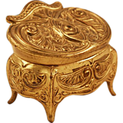 Spelter Art Nouveau Jewel Casket with Egyptian Revival Motif