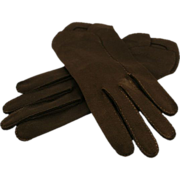 ca late '40s Crescendoe Black Cotton Gloves, Size 7