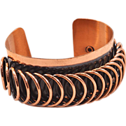 Classic Copper-Finish Vintage Renoir Modernist Cuff