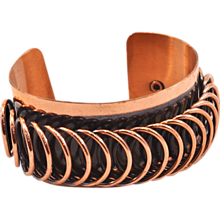 Classic Copper-Finish Vintage Renoir Modernist Cuff