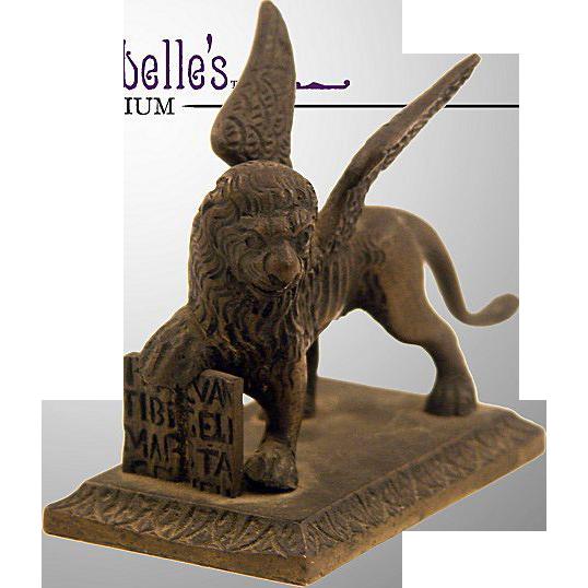 St. Mark The Evangelist Bronze Figure of Winged Lion