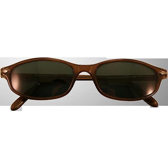 Cool Retro ca 1980s Persol Black Sunglasses, Excellent Condition