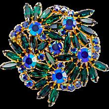 Breathtaking Vintage Rhinestone Brooch - Amazing Sparkle!