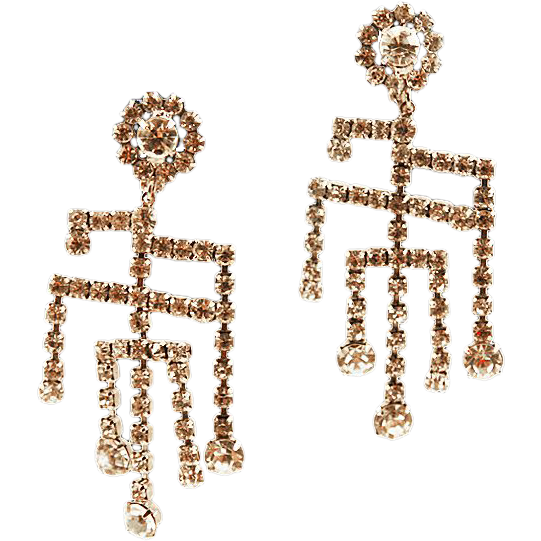 Gorgeous Rhinestone Chandelier Earrings