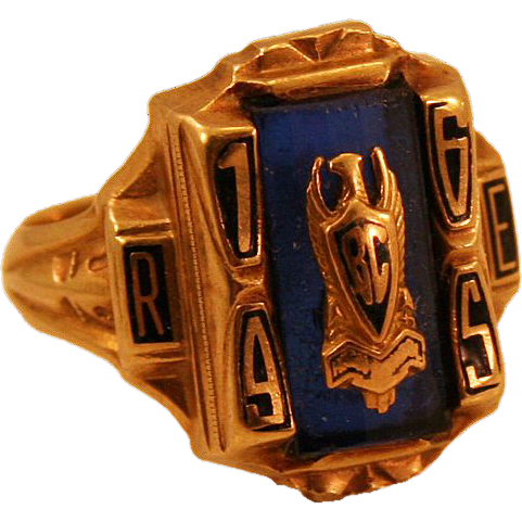 1965 10k Gold B.C. High Class Ring