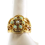 Vintage Fiery Opal 14K Yellow Gold Ring
