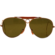 Rare early 1970's B&L Ray Ban 1/10 12K Gold-Filled Shooter Sunglasses