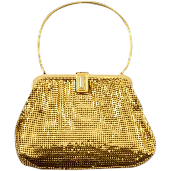 Vintage Whiting & Davis Goldtone Mesh Purse with Matching Coin Purse