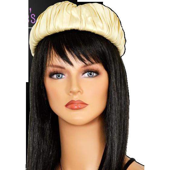 Creamy Satin I. Magnin Vintage Hat