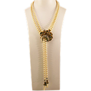 Stunning Stanley Hagler Lariat Necklace with Pendant/Brooch