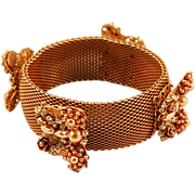 Fabulous Stanley Hagler Mesh Bracelet Faux Pearls Beautiful