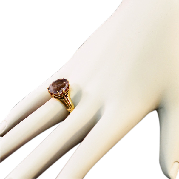 14k Gold and Giant Amethyst Ring