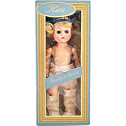 "Vintage 1950s ""Ready to Dress"" Kim Doll in Original Box"
