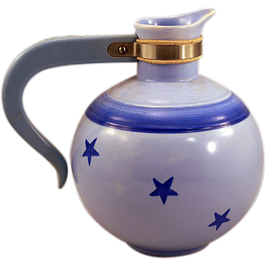 ca 1938 Collectible Vernon Kilns of California Constellation Pattern Coffee Server