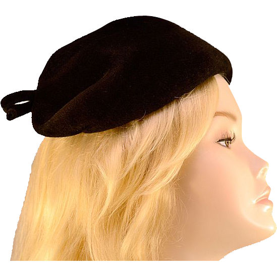 vintage hair styles vintage 40s black wool bow hat from easterbelles emporium 5361