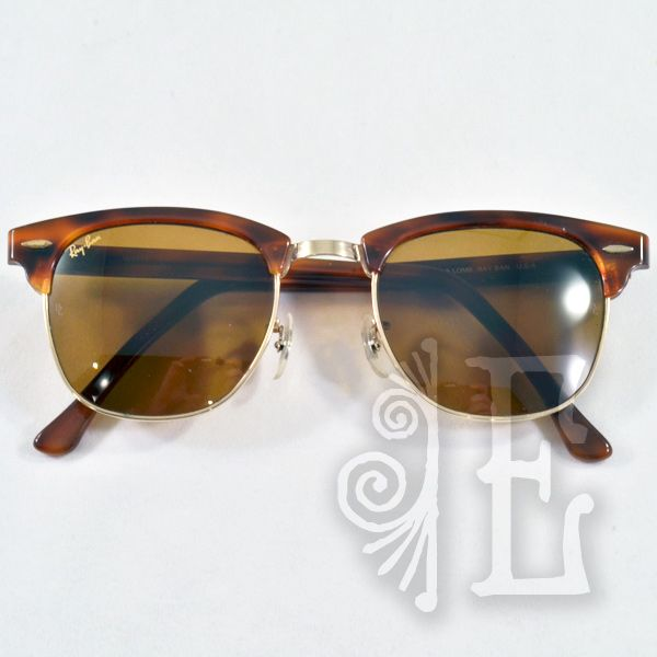 ray ban clubmaster classic tortoise  Vintage Ray-Ban Clubmaster Classic Horn Rimmed Sunglasses from ...
