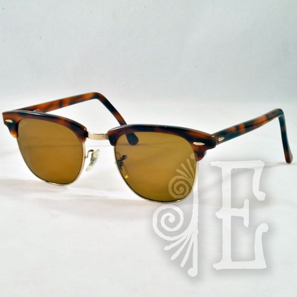 Vintage Ray-Ban Clubmaster Classic Horn Rimmed Sunglasses from