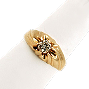 Head Turning .50 ct. Diamond and 14K Gold Solitaire Ring