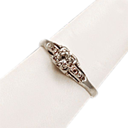 Very Elegant Bejeweled 7 Diamonds in 14K Gold Ring