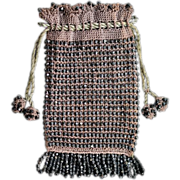 Antique Victorian Beaded Handbag, Late 1800s