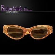 "Rhinestone Heavily Embellished  ""May USA""  ca 60's Sunglasses - Beauties!"