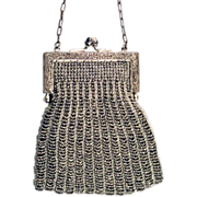 Victorian Era Cut-Steel Amazing Beaded Handbag