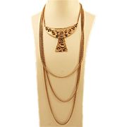 Cleopatra Called Over The Top Hobe Egyptian Revival Necklace