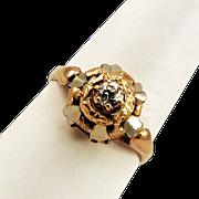 Big Bold 18K Gold and Diamond Ring Gorgeous!