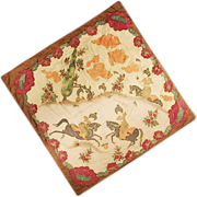 Amazing Batik Scarf with Asian Horsemen at Play Theme