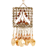 OOAK Davison Vintage Belt Buckle Sparkling Swarovski Rhinestone Necklace