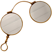 14K Gold Antique Lorgnette Spectacles Curry & Paxton Ltd. Opticians London