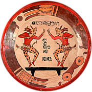 Vintage HUGE Ticul Mexican Terracotta Charger Dish - Gorgeous!