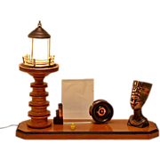 Vintage Custom Made Combination Desk Lamp & Frame