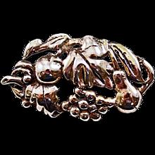 Vintage Sterling Silver .925 Fruit Brooch Great Size