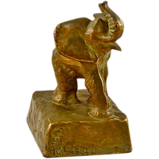 Delightful McClellan Barclay Bronze Gilt Elephant Sculpture
