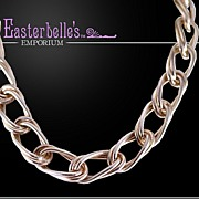 Vintage Italian Sterling Silver Chain Link Necklace 75 gms.
