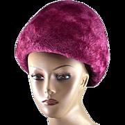 """Vintage 1950's Purple Dior """"Gumdrop"""" Hat"""