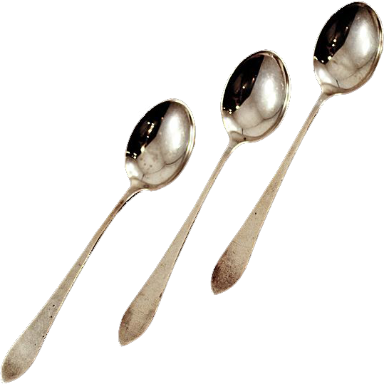 Vintage Sterling Silver Webster Spoon Set - 34 gms.