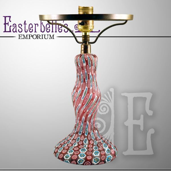 Beautiful Vintage Stunning Venetian Millefiori Glass Vintage Lamp, ca 1920's Highly Desirable