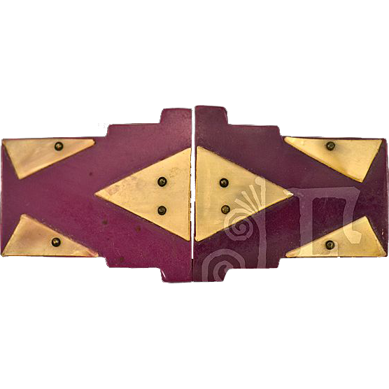 Classic Art Deco Galalith Belt Buckle