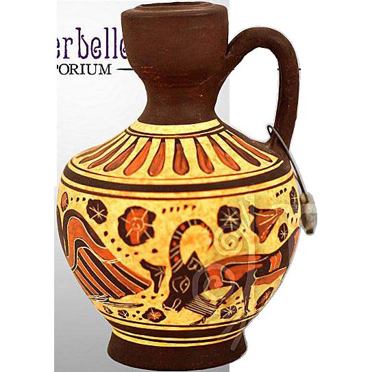 Vintage Greek Korinthian Oinochoe Reproduction Vase