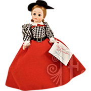 """1988 Madame Alexander Portrettes """"Gibson Girl"""" Doll In Original Box with Orig Wrist Tag"""