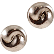 Unique Yin/Yang Thai Sterling Silver Earrings
