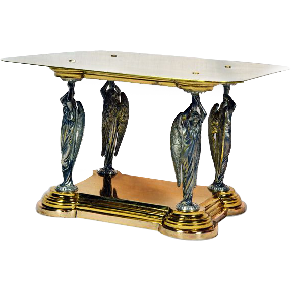 Magnificent Collectible 12K Gold Plated WJ Feeley Antique Bible Stand