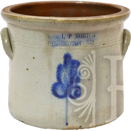 Classic 19th Century E & LP Norton Pottery Stoneware Crock