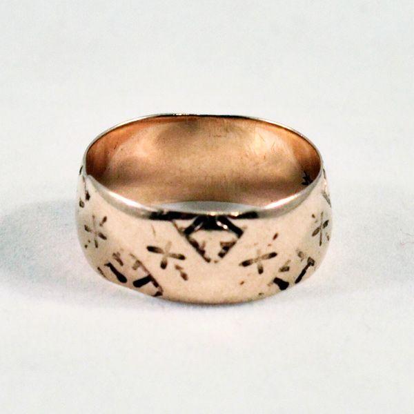 antique 18 karat gold wedding band hallmarked for jr wood