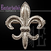 Classic Sterling Silver Fleur de Lis Watch Pin